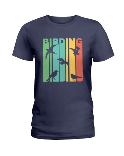 Vintage birding birdwatching graphic