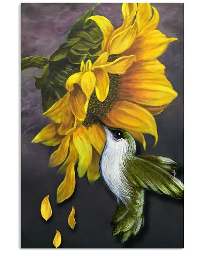 Hummingbird And Sunflower