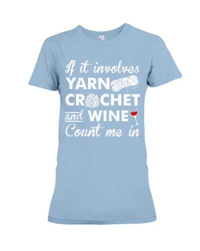 if it involves crochet and wine