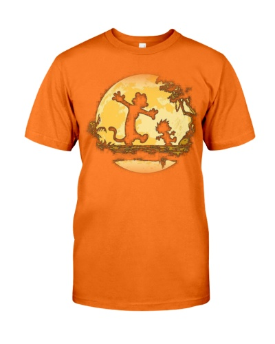 Calvin and Hobbes Art T Shirt  Mens Premium TShirt