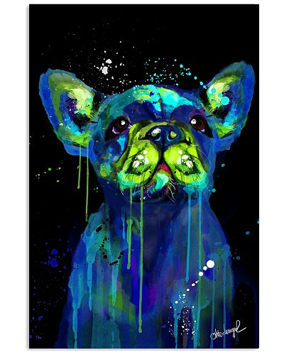 French bulldog Water Color Art Flow H10