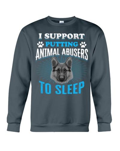 I support putting animal abusers to sleep Tshirt