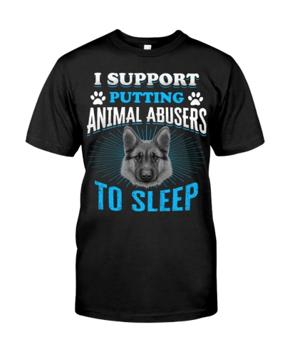 I support putting animal abusers to sleep Tshirt