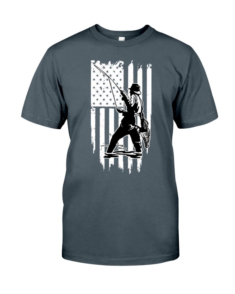 Fishing Usa Flag Unisex Tshirt