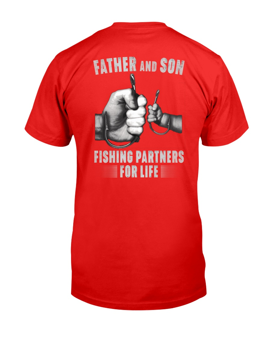 Father And Son Fishing Partners For Life Unisex Tshirt