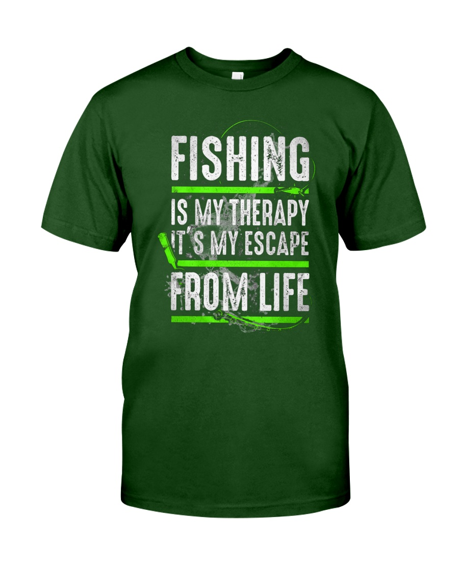 Fishing Is My Therapy Unisex Tshirt