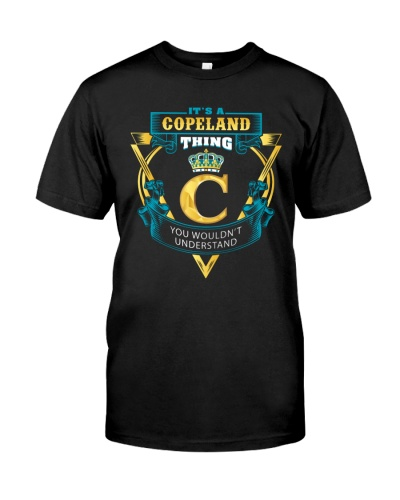 IT'S A COPELAND THING YOU WOULDN'T UNDERSTAND
