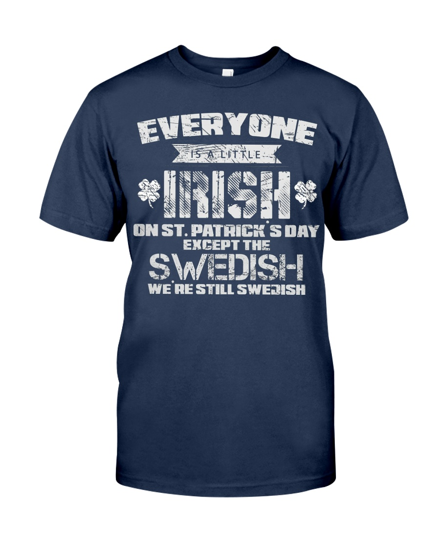 Funny St Patricks Day 2018 T Shirt Swedish Irish T Unisex Tshirt