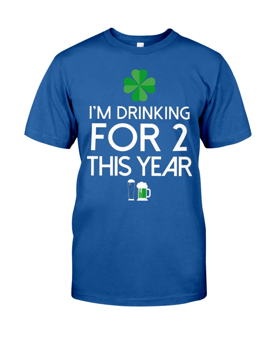 Drinking For Two St Patricks Day Pregnancy Announc Unisex Tshirt