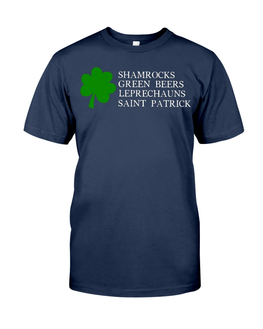 Shamrocks Beers Leprechauns St Patrick Clover T Sh Unisex Tshirt