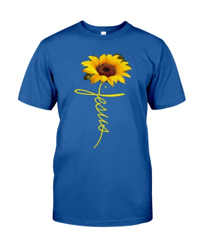 Jesus Sunflower T shirt