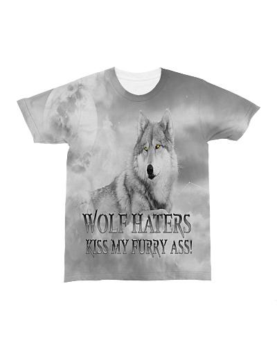 Wolf Haters Kiss My Furry Ass T Shirt