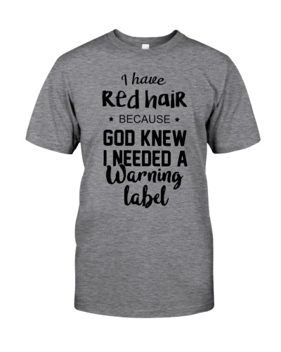 Red Hair- Warning Label