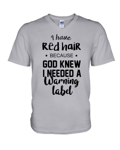 Red Hair- Warning Label