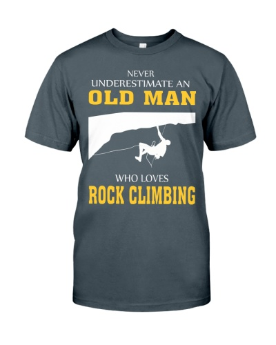 OLD MAN WHO LOVES ROCK CLIMBING
