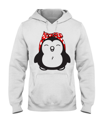 Strong penguin woman-Red bow