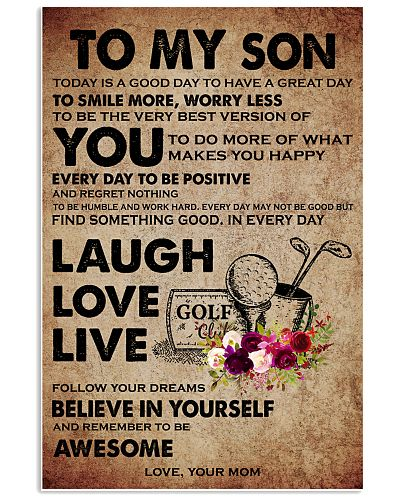 TO MY SON - GOLF MOM