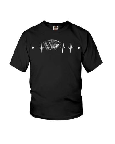 Music Is Life - Accordion Heartbeat Shirt