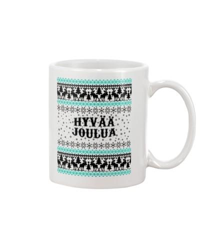 FINNISH HYVAA JOULUA MUG T-SHIRT HOODIE