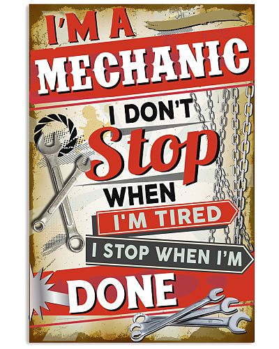 Awesome Mechanic's Canvas and Posters