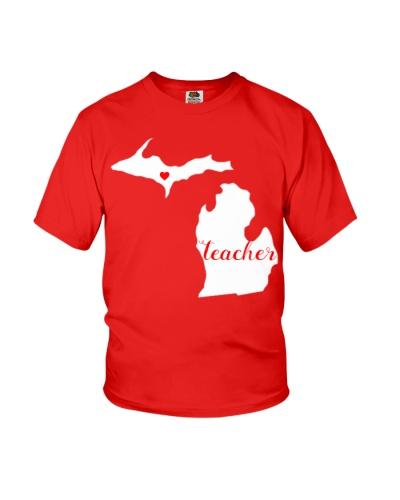 Red For Ed Teacher Michigan Public Education