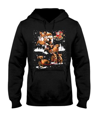 Reindeer Dachshund Dog Shirt