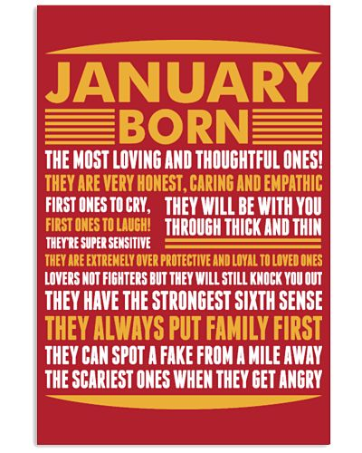 January Born T-shirt