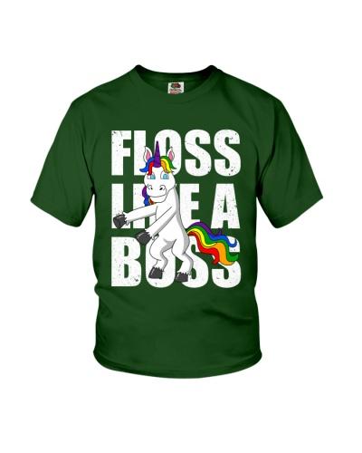 Floss Like A Boss Unicorn Dancing Flossing Dance