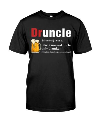Druncle Beer Shirt Like A Normal Uncle