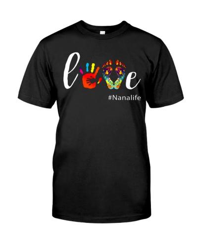 Love Nana life Shirt Cute Grandma Gift