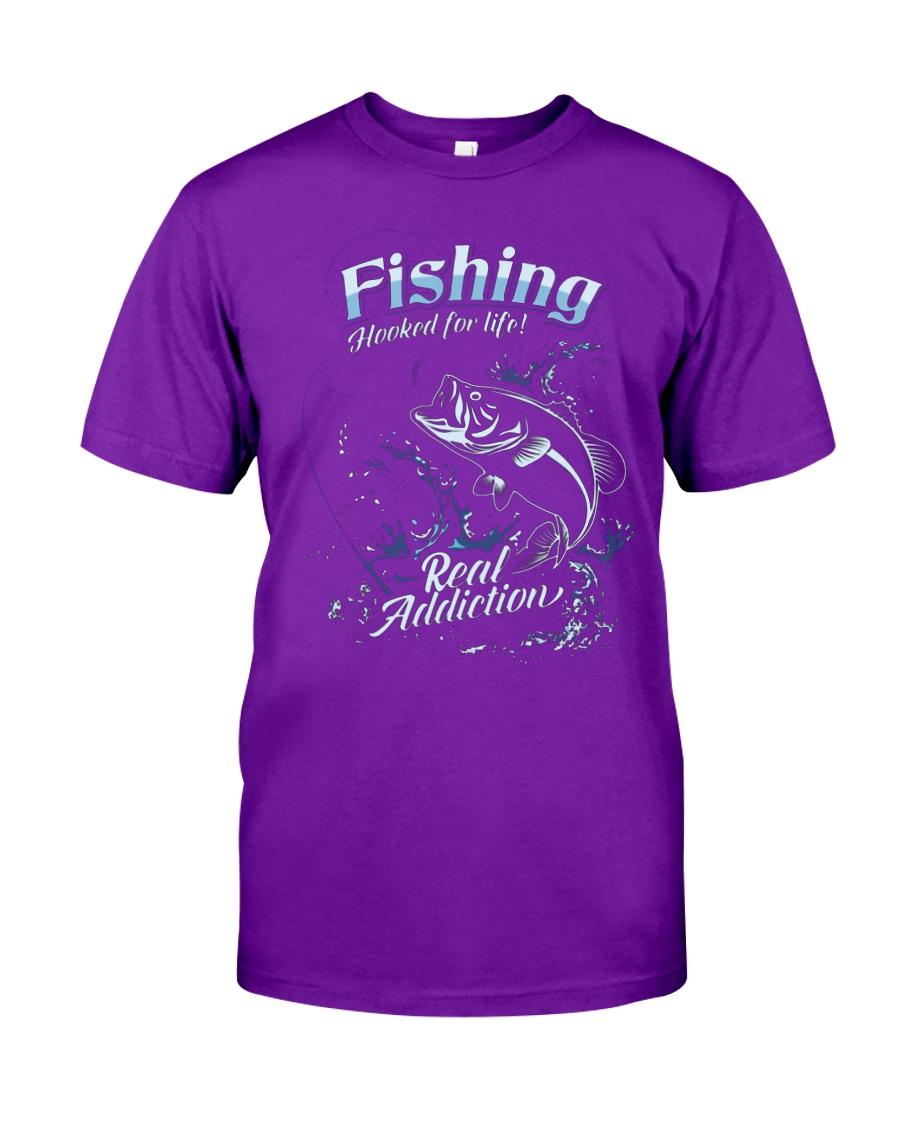 Fishing Hooked For Life Unisex Tshirt