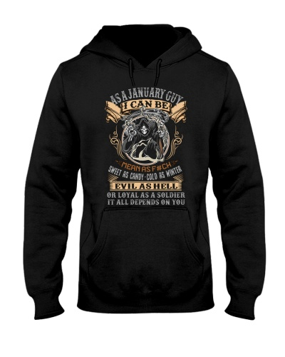 Birthday -January Birthday - Birthday Hoodie