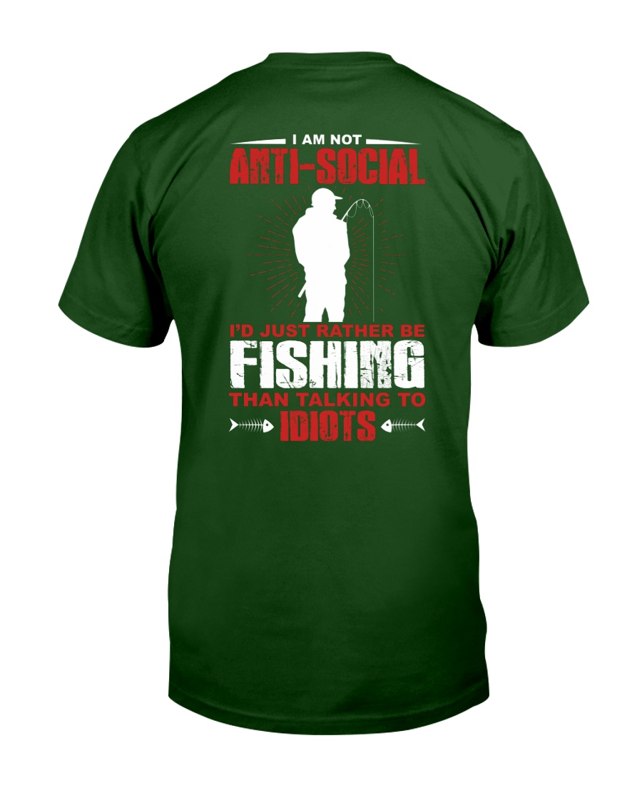 Fishing-not-anti-social Unisex Tshirt
