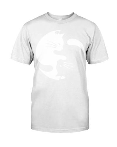 Cat Yin Yang Shirts - Womens Tri-Blend V-Neck T-