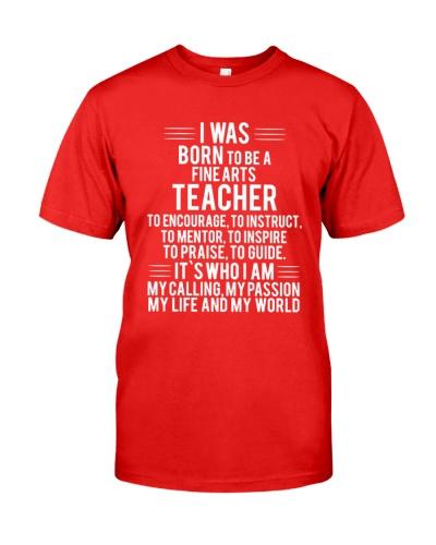 Fine Arts Teacher T-shirt