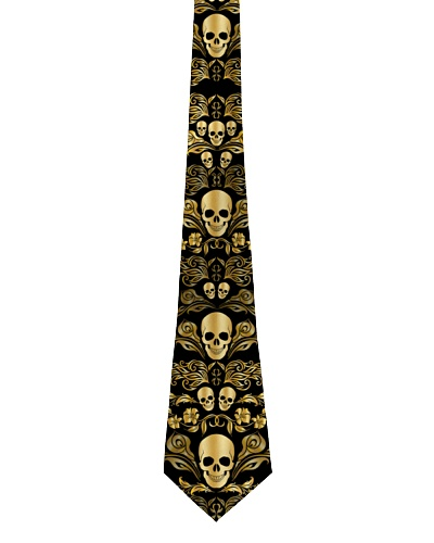 Skull Gold Tie for Men