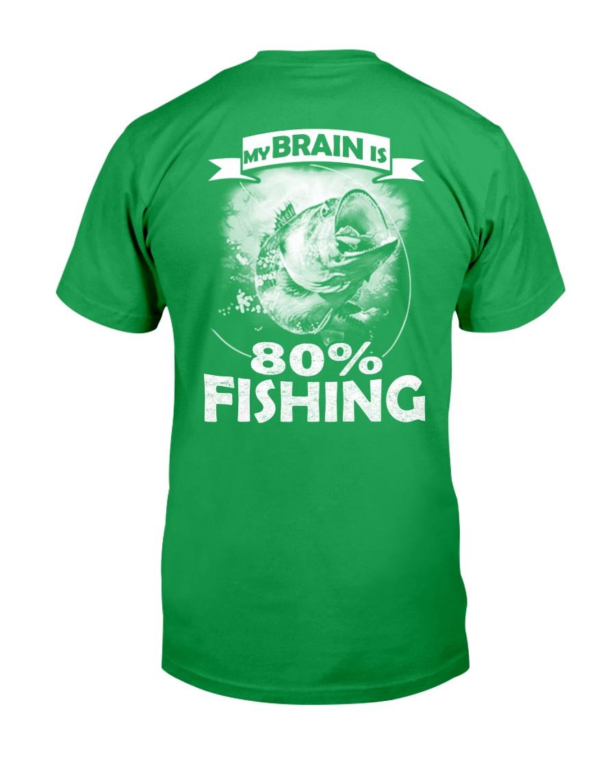 My Brain Is 80 Fishing Unisex Tshirt