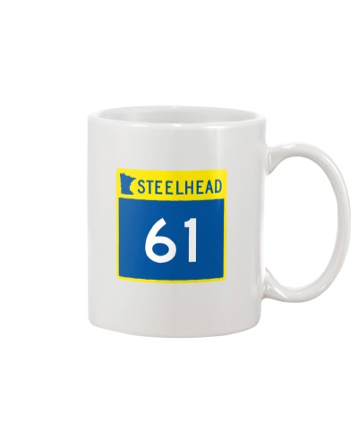 Steelhead 61 - White Distressed Logo Apparel