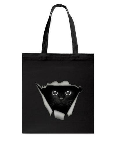 Tote Bag for black cat