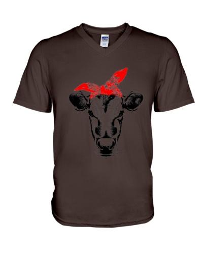 Cow Face Red Bandana Tshirt