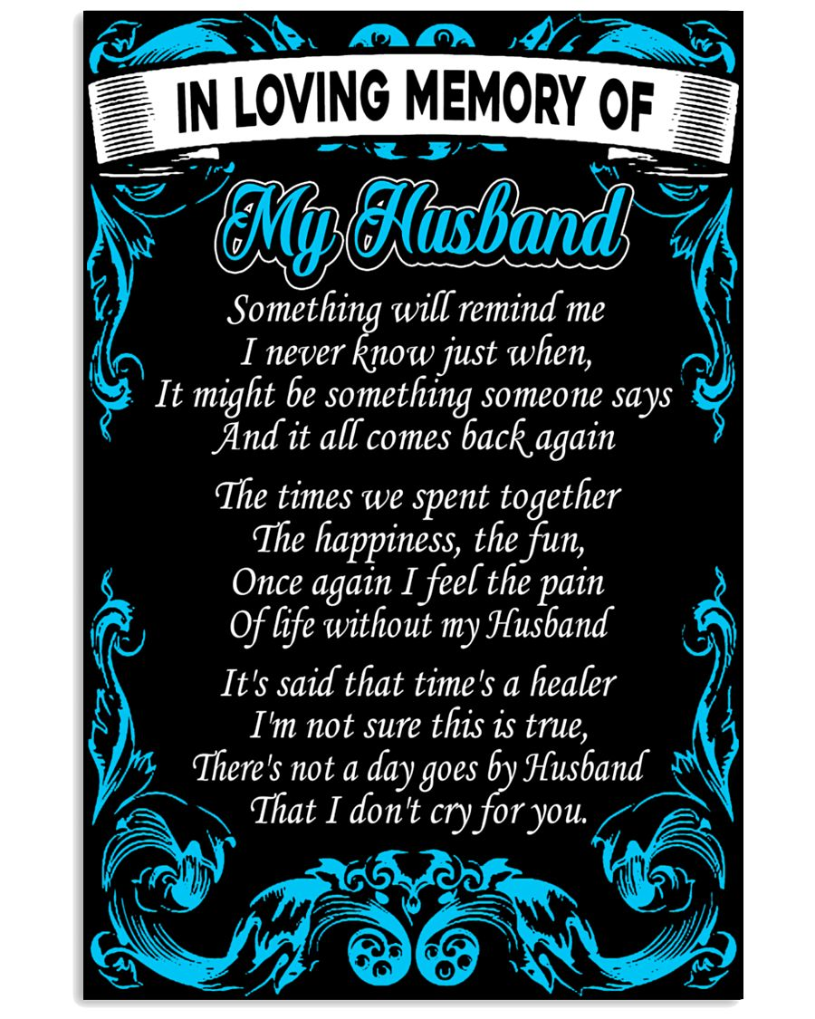 In Loving Memory Of My Husband Poster
