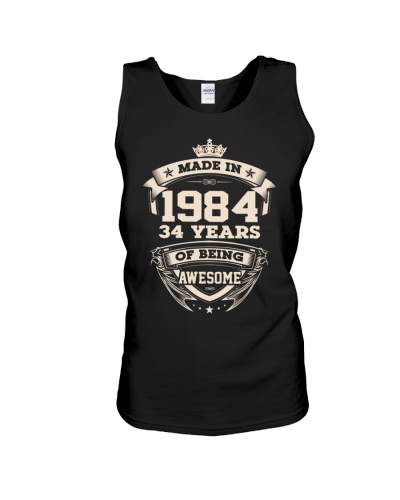 Made in 34 - 1984 years of being awesome